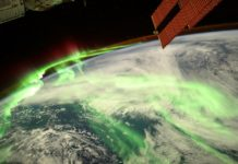 Aurora polar capturada en agosto polo astronauta Thomas Pesquet desde a Estación Espacial.