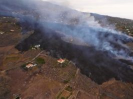 Imaxe aérea da casa de La Palma. Foto: Alfonso Escalero / I Love The World.