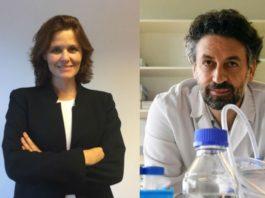 "Angélica Figueroa e Ezequiel Álvarez lideran os proxectos financiados por ""la Caixa"". Foto: INIBIC / Santi Alvite (USC)."