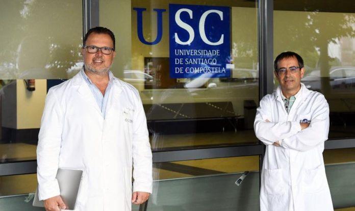 Os profesores da USC Antonio Salas e Federico Martinón, que coordinaron o traballo sobre os supercontaxiadores. Foto: Santi Alvite / USC.