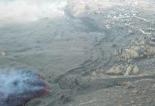 Avance dunha das coadas de lava en La Palma, nas imaxes tomadas estes últimos polo IGME.