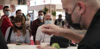 Unha das demostracións en directo con produtos coruñeses durante o Forum Gastronomic en Barcelona.