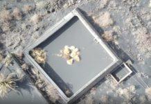 Vista aérea do estanque onde se refuxiaban os cans. Foto: Aerocamaras.