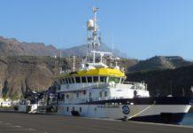 O Ángeles Alvariño, este martes, no porto de Tazacorte. Foto: Manuel Rey.