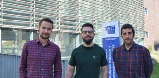Tres dos autores do estudo: Jesús Silva, Alexis Moscoso e Pablo Aguiar. Foto: CiMUS.